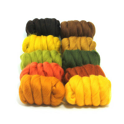 Autumn Leaves - Dyed Merino Wool Top - Felting - Roving - Spinning - 250g