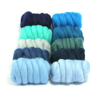 Woolly Waves - Dyed Merino Wool Top - Felting - Roving - Spinning - 250g