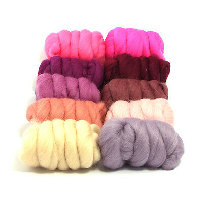 Sugar Candy - Dyed Merino Wool Top - Felting - Roving - Spinning - 250g