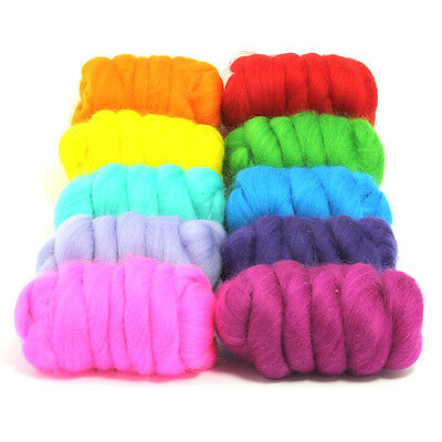 Beautiful Brights - Dyed Merino Wool Top - Felting - Roving - Spinning - 250g