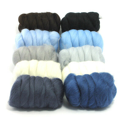 Winter Wonderland - Dyed Merino Wool Top - Felting - Roving - Spinning - 250g