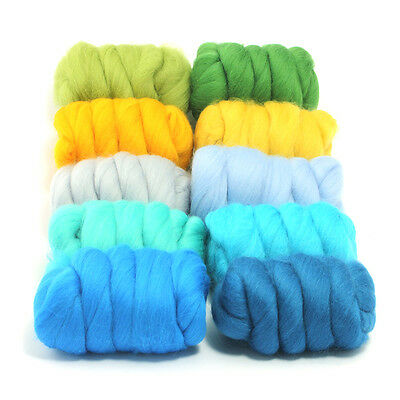 Summer Holiday - Dyed Merino Wool Top - Felting - Roving - Spinning - 250g