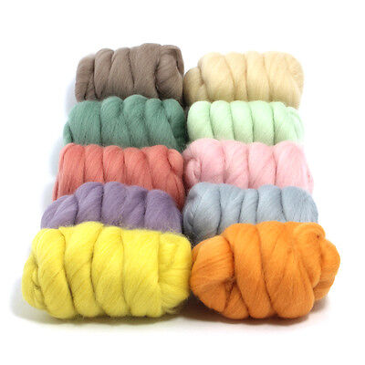 Pretty Pastels - Dyed Merino Wool Top - Felting - Roving - Spinning - 250g