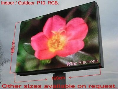 2x LED Video Display Indoor/Outdoor H96 x L160cm RGB + Video Processor HDMI In
