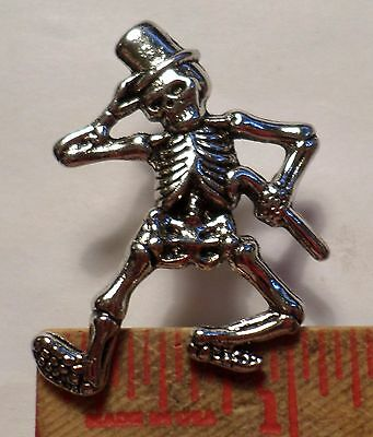 Vintage Grateful Dead pin rock & roll music old collectible Dancing Skeleton