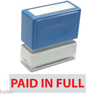 "JYP PA1040 Rectangle Stock Pre-Inked Rubber Stamp with ""Paid In Full"""