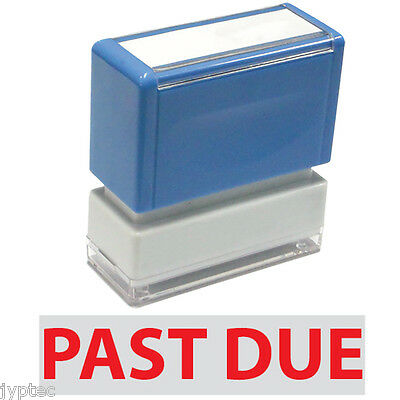 """JYP PA1040 Rectangle Stock Pre-Inked Rubber Stamp with """"Past Due"""""""