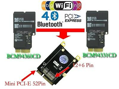 Nuevo Tablet PC PCI-E Mini PCI Express Adaptador para BCM94360CD BCM94331CM