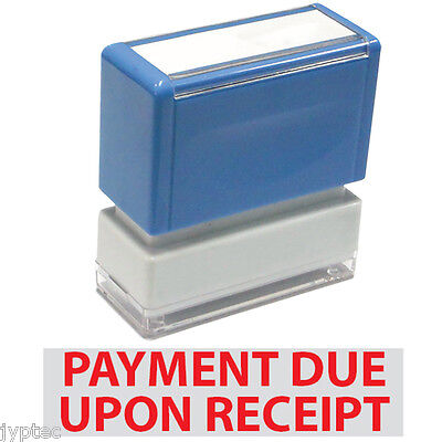 """JYP PA1040 Rectangle Stock Pre-Inked Rubber Stamp w. """"Payment Due Upon Receipt"""""""