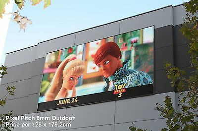 Full Colour LED Video Wall Display P8 - Outdoor - price per 2.29m² (128x179x9cm)