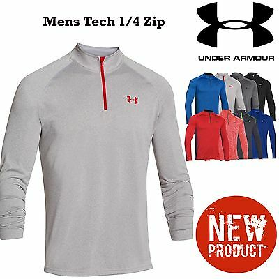 Under Armour Tech 1/4 Zip Top Mens Gym Top Training T Shirt Running Top New 2016