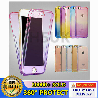 Slim Front and Back Full Body Shockproof 360° Silicon Case Cover For iPhones