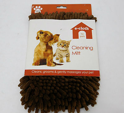 E-Cloth For Pets Cleaning Mitt Glove For Cleaning Muddy Dogs Soggy Cats NEW
