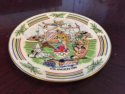 Fantastic Paragon Wall Plate Commemorating 1984 Los Angeles Olympics