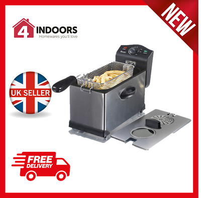 Swan SD6040N 3Ltr Stainless Steel Deep Fat Fryer with Viewing Window - Brand New