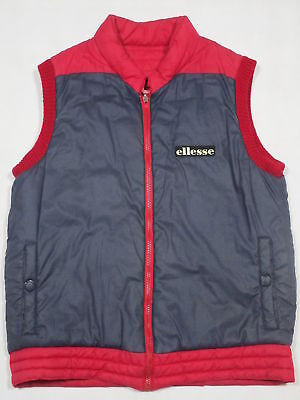 Ellesse Weste Vest Winter Casual Oldschool 80s 90s 90er Vintage Red Blue ca- M-L