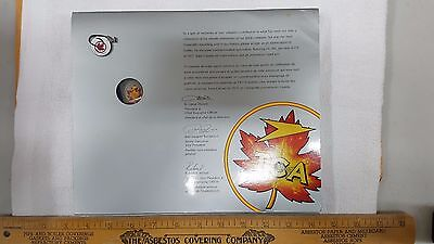 Vintage Air Canada / TCA 50th anniversary employee presentation pin and picture