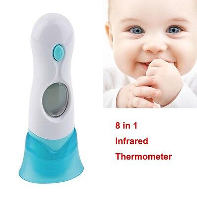8 in 1 Digital Baby Infrared Thermometer Ear & Forehead Child Family