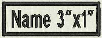 """Custom Embroidered Name Tag Rectangular One Line Iron on Patch 3""""x1"""""""