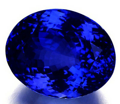 Dazzling 12x10mm Oval Shape 5.68ct Top Blue Tanzanite AAAA+ Loose Gemstone