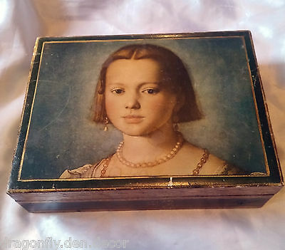 Vintage Italian Gold Gilt Tole Wood box