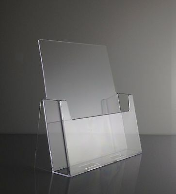Full Page Brochure Holders Clear Acrylic 8.5 x 11 Display Stands Lot of 6