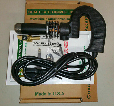 IDEAL 125 TIRE REGROOVER 110 Volt Machine Hot Knife W/12 #4 RD BLADES