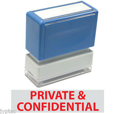 """JYP PA1040 Rectangle Stock Pre-Inked Rubber Stamp with """"Private & Confidential"""""""