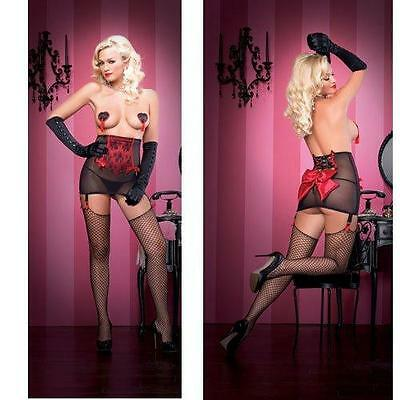 Leg Avenue 2 Pc. Femme Fatale Waist Cincher Girdle and G String Set