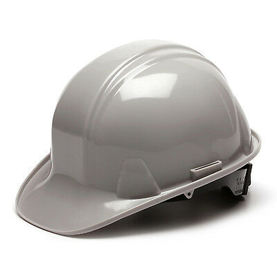 Gray Hard Hat Pyramex HP14112 4-Point With Ratchet Suspension Safety Cap Style