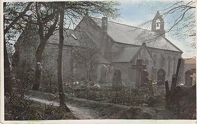 Durham - BYERS GREEN, Church - Colour Tinted Real Photo - used c 1912