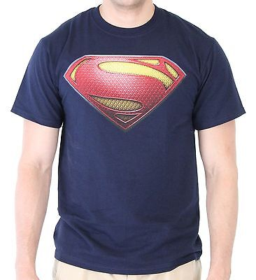 Adult DC Comics Hero Movie Man of Steel Superman S Shield Logo Costume Tee Shirt