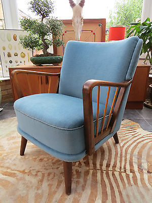 A STUNNING ORIGINAL 1960s VINTAGE EAST GERMAN COCKTAIL ARM CHAIR  JN16/25