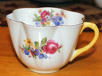Shelley Butchers Crocus Rose Bluebell Lonely Teacup Yellow Dainty No Chips Rare!