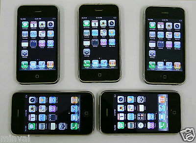 Lot 5 Apple iPhone 3G A1241 16GB Black MB048LL Smartphone Cell Phone AT&T LOCKED