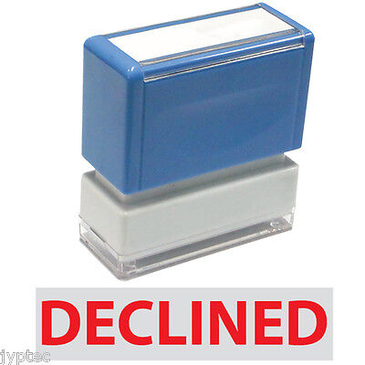 "JYP PA1040 Rectangle Stock Pre-Inked Rubber Stamp With ""Declined"""