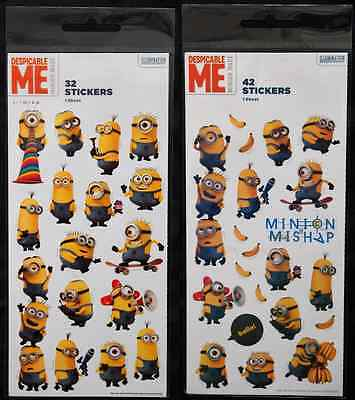 Minion Despicable Me Stickers - Illumination Entertainment  Art Craft Kids