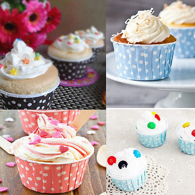 100pcs/lot Paper Muffin Cups Colorful Dots Cake Cupcake Wrapper For Party Supply