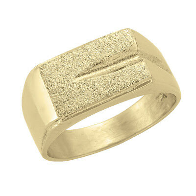 10k Yellow Gold Square Flat Top Ring (new, 7.10g)#2039