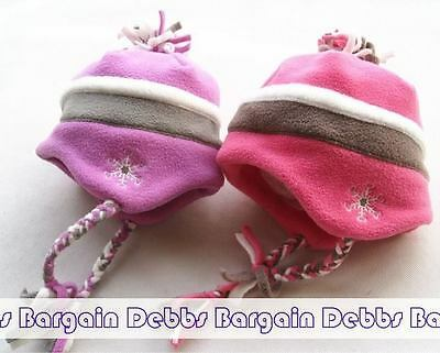 Please Mum - Kids Baby Girl Fleece Hat Cap:18M-2Years-Pink-2 Colors-New