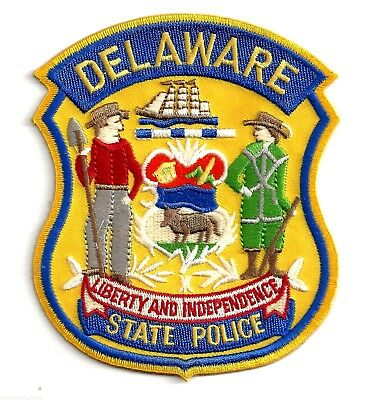 Delaware State Polce - Shoulder Iron On Patch