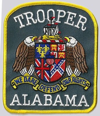 Alabama Trooper - Shoulder Iron On Patch