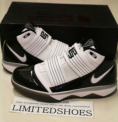 cd05720896f6f NIKE ZOOM SOLDIER III 3 TB WHITE BLACK 367183-111 US 8.5 SIZE LEBRON finals