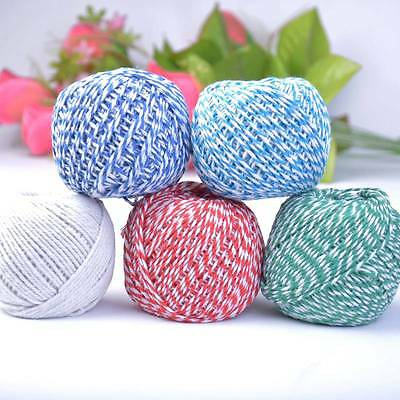 80m Bakers Coloured Twine Bundle 100% Cotton Best Quality String Ribbon Craft