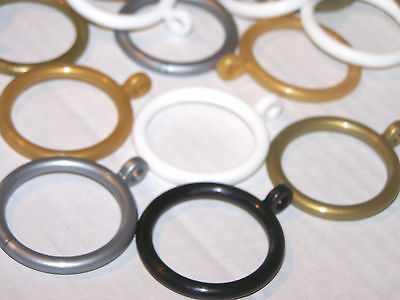 19mm 23mm Plastic Curtain Pole Rings White Black Gold Antique Brass Grey Bronze