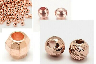 5 10g Spacer 3mm 4mm Rosegold Spacer Metallperlen rosegold Quetsch Perlen bead