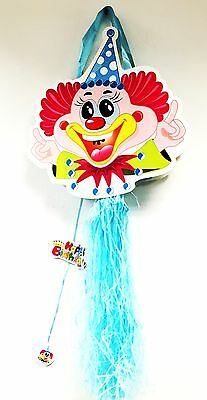 Birthday Wedding Party Pull String Clowns Pinata Candy Sweets Bag Pull Bag