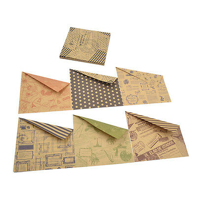 60 Pcs DIY Chiyogami  Origami Vintage Kraft Paper Hand Craft Double Side Retro