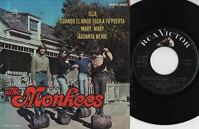 """THE MONKEES - Mary Mary - r@re Mexican 7"""" EP 45 Mexico 1967"""