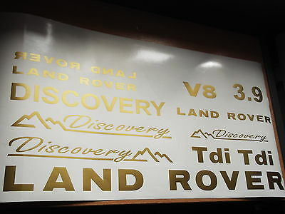 Land Rover DISCOVERY Sticker set Vinyl Decal  Discovery V8 3.9  TD5